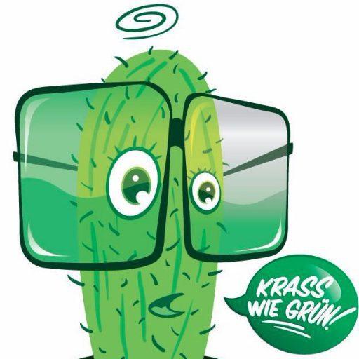 krass wie grün